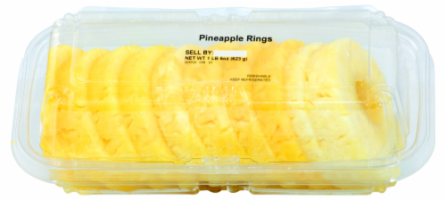 Fresh Kitchen Fresh Sliced Pineapple Rings Perspective: front