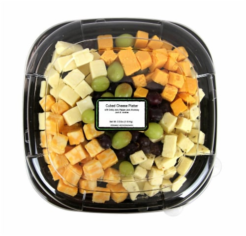 Cubed Cheese Platter Perspective: front
