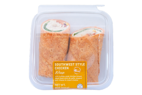 Deli Southwest Style Buffalo Chicken Wrap Perspective: front