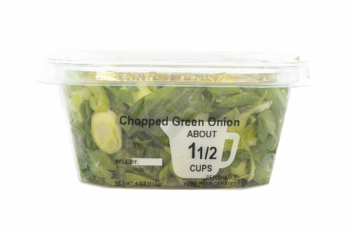 Fresh Kitchen Chopped Green Onion Perspective: front