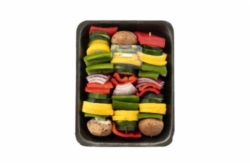 Fresh Kitchen 3 Skewer Veggie Kabobs Perspective: front
