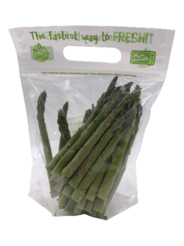 Asparagus Spears Steaming Bag Perspective: front