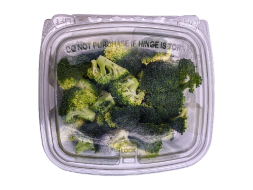 Organic Broccoli Florets Perspective: front