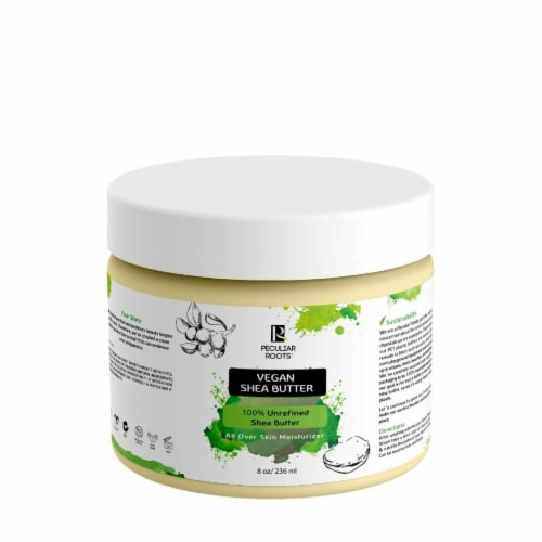 Peculiar Roots Natural Unscented Vegan 100% Unrefined Shea Butter Perspective: front