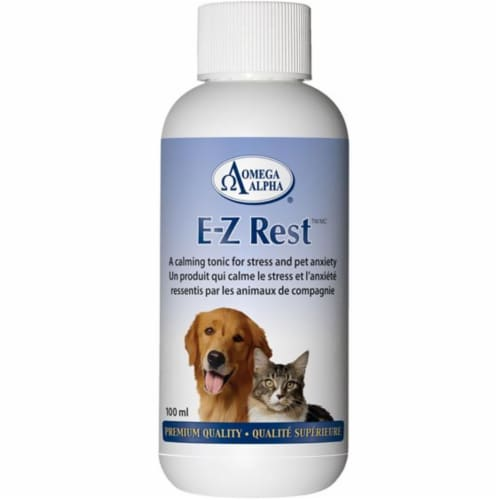 Omega Alpha 451001 4 oz E-Z Rest Promotes & Enhances Relaxed Behaviour Perspective: front