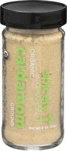 Spicely Organic Ground Cardamom Spice Perspective: front