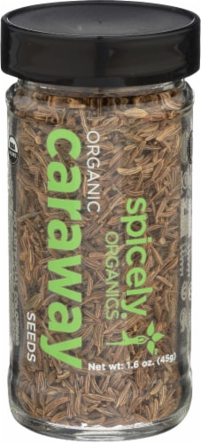 Spicely Organics Caraway Seeds Perspective: front