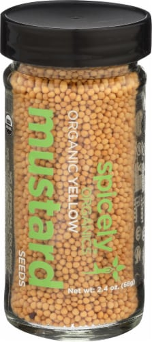 Spicely Organics Yellow Mustard Seeds Seasoning Perspective: front