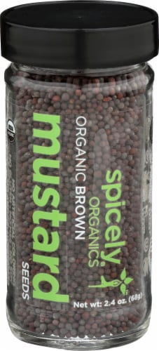 Spicely Organics Brown Mustard Seed Perspective: front