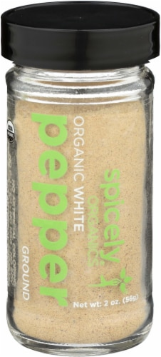 Spicely Organic Ground White Pepper Perspective: front