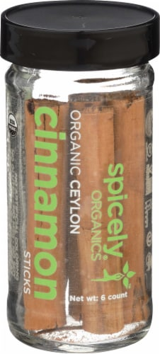 Spicely Organics Ceylon Cinnamon Sticks Perspective: front