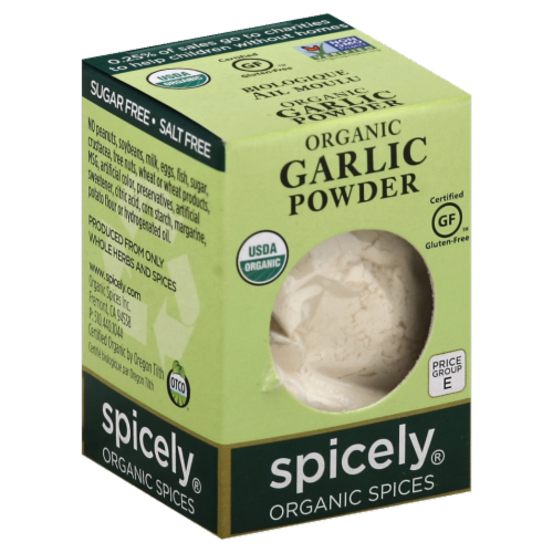 Spicely Organics Spices Garlic Powder Perspective: front