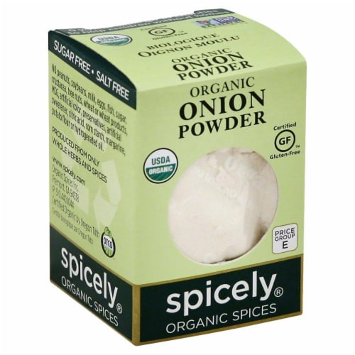 Spicely Organic Onion Powder Perspective: front