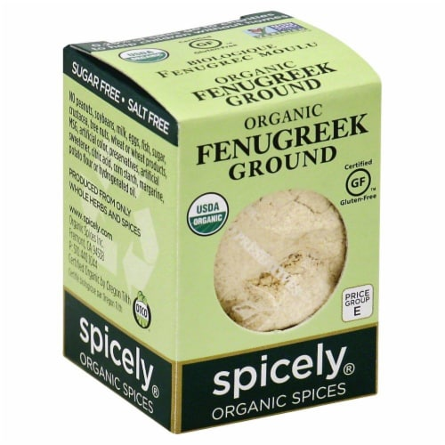 Spicely Organic Ground Fenugreek Perspective: front