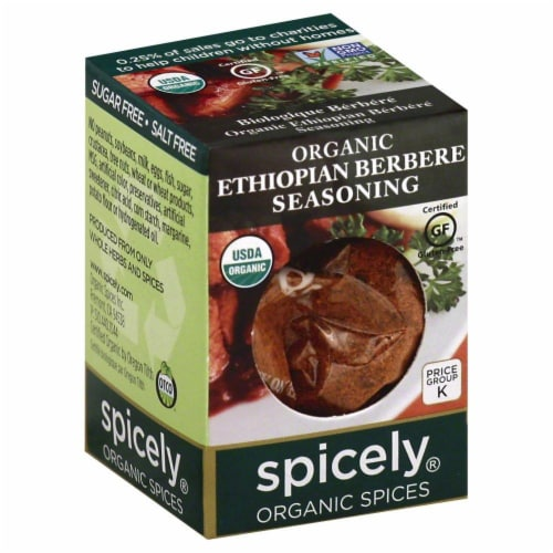 Spicely Organic Ethiopian Berbere Seasoning Perspective: front
