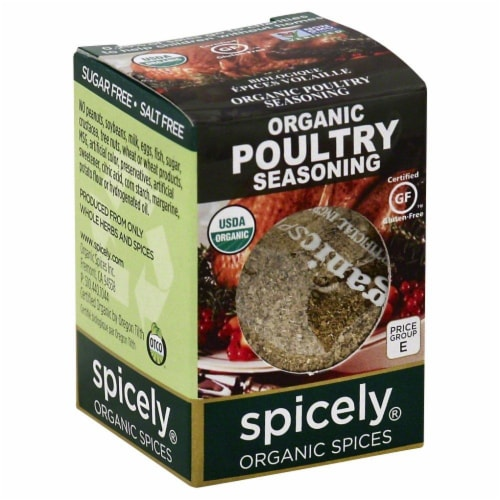 Spicely Organic Poultry Seasoning Perspective: front