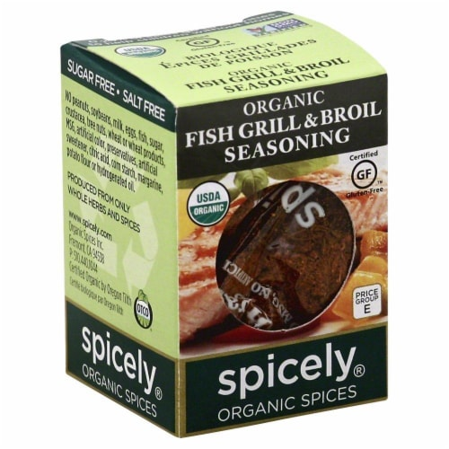 Spicely Organic Fish Grill & Broil Seasoning Perspective: front