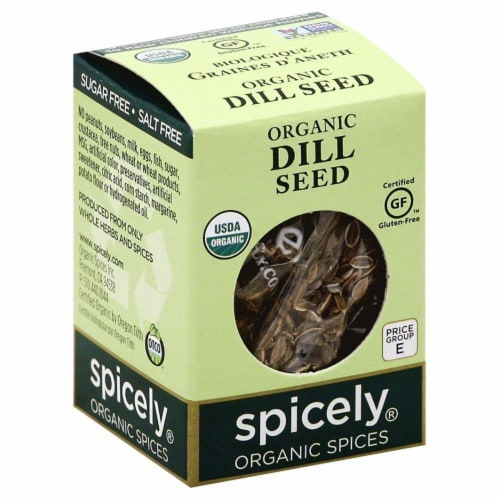 Spicely Organic Whole Dill Seed Perspective: front