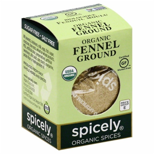 Spicely Organic Ground Fennel Perspective: front