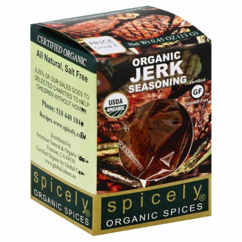 Spicely Organic Jerk Seasoning Perspective: front