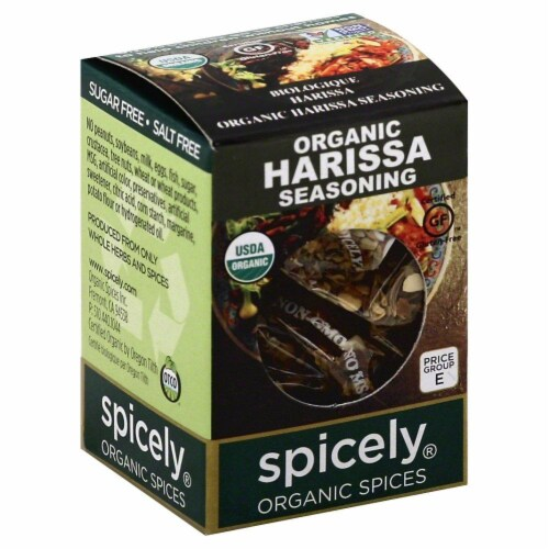 Spicely Organic Harissa Seasoning Perspective: front