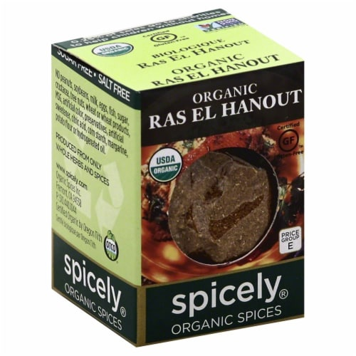 Spicely Organic Ras El Hanout Seasoning Perspective: front