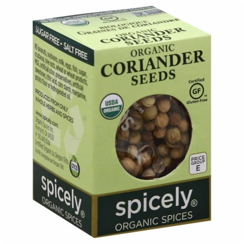 Spicely Organic Coriander Seeds Perspective: front
