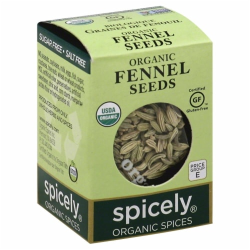 Spicely Organic Fennel Seeds Perspective: front
