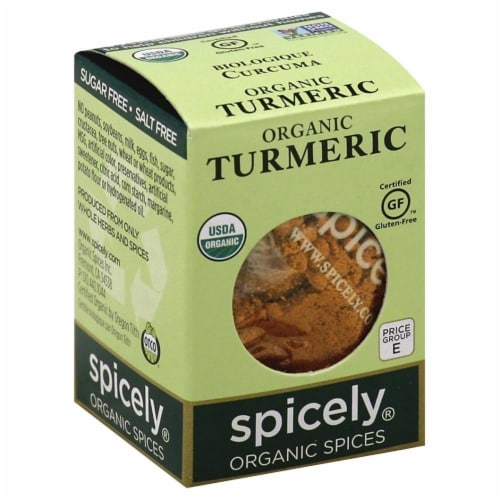Spicely Organic Turmeric Perspective: front