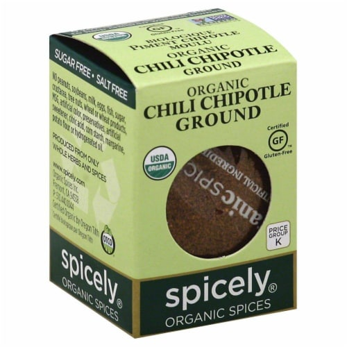 Spicely Organics Ground Chipotle Chili Perspective: front