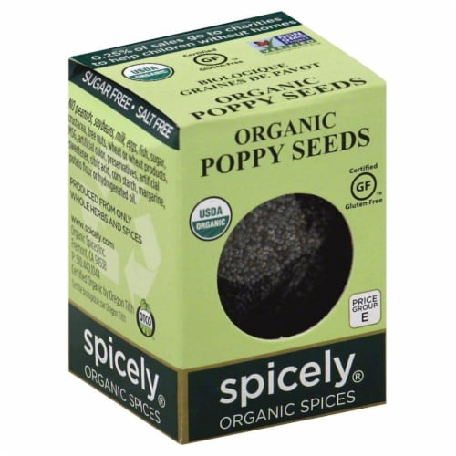 Spicely Organic Poppy Seeds Perspective: front