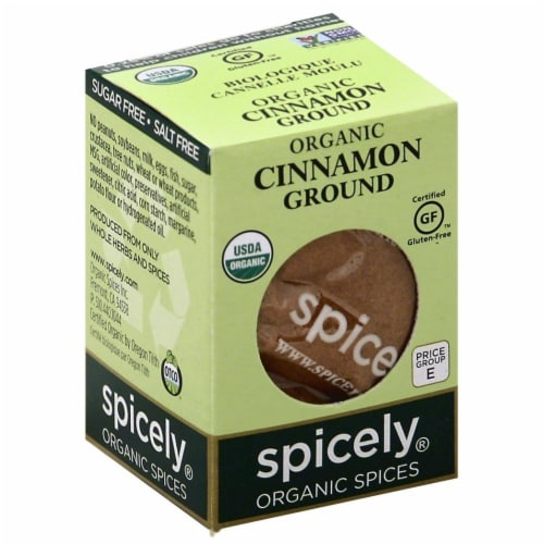 Spicely Organic Ground Cinnamon Perspective: front