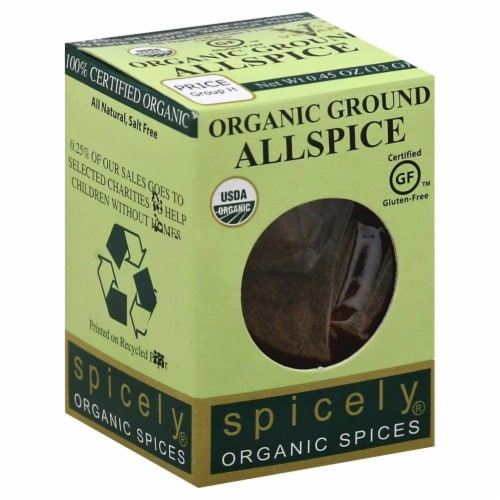 Spicely Organic Ground Allspice Perspective: front
