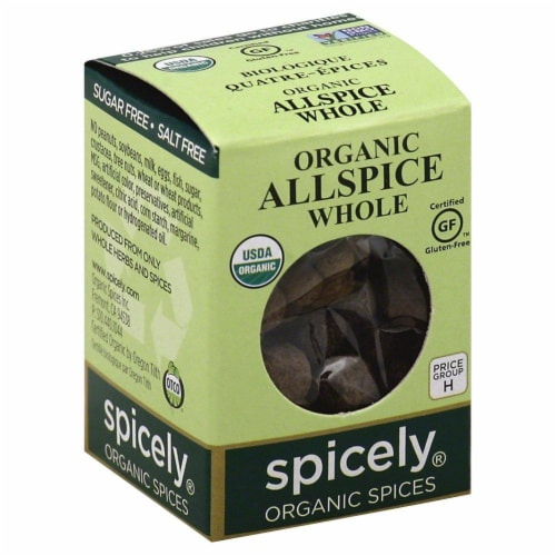 Spicely Organic Whole Allspice Perspective: front