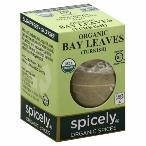 Spicely Organic Bay Leaves Perspective: front