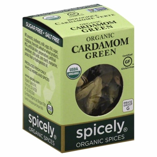 Spicely Organic Ground Cardamom Perspective: front