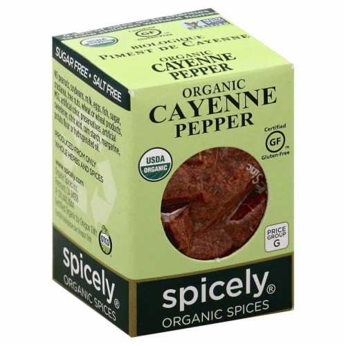 Spicely Organic Cayenne Pepper Perspective: front
