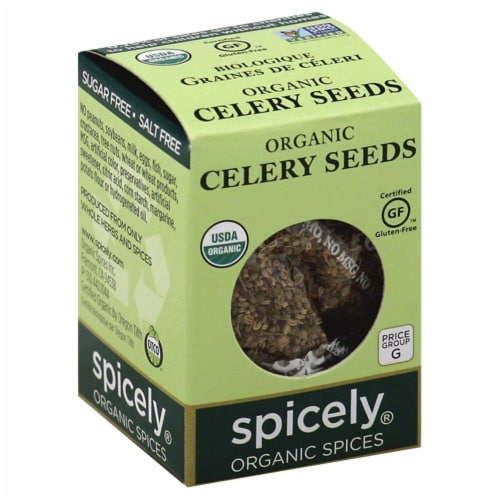 Spicely Organics Celery Seeds Perspective: front