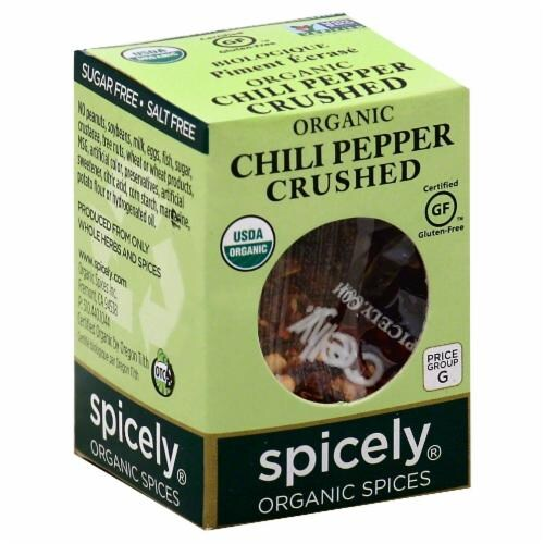 Spicely Organic Crushed Chili Pepper Perspective: front