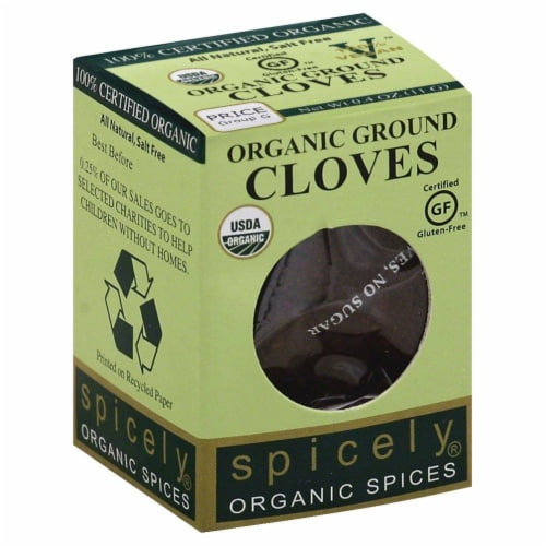 Spicely Organic Ground Cloves Perspective: front