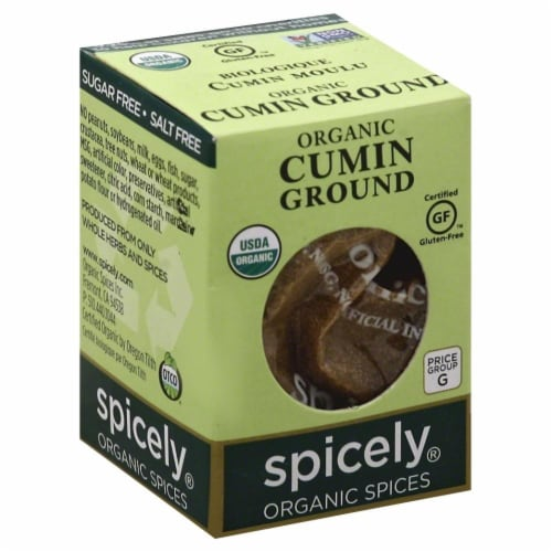 Spicely Organic Ground Cumin Perspective: front