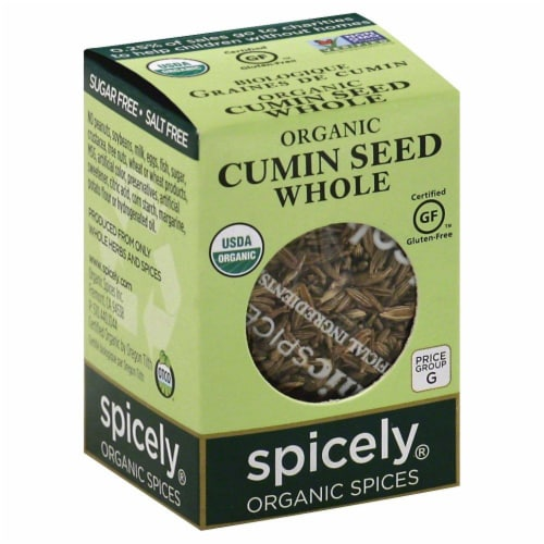 Spicely Organic Whole Cumin Seed Perspective: front