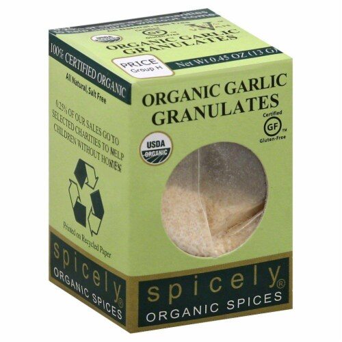 Spicely Organic Garlic Granulates Perspective: front