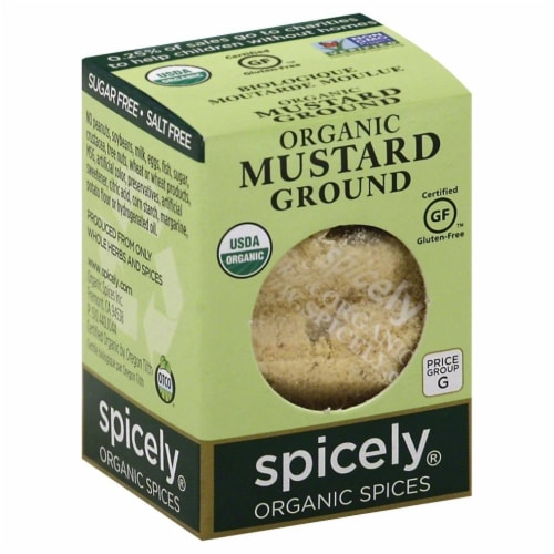 Spicely Organic Ground Mustard Perspective: front