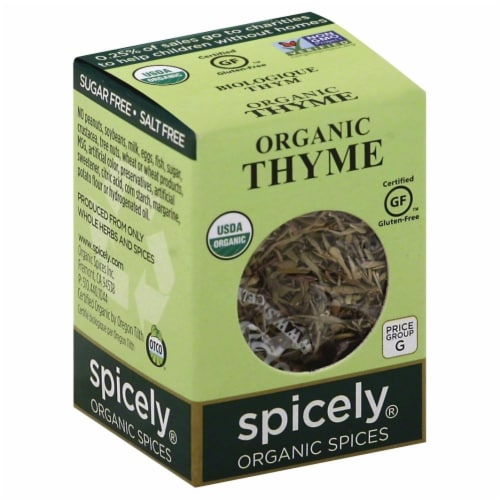 Spicely Organic Thyme Perspective: front