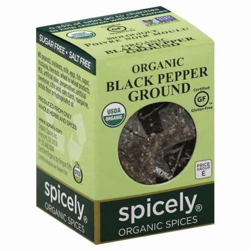 Spicely Organic Ground Black Pepper Perspective: front