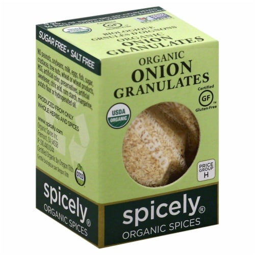 Spicely Organics Onion Granulates Perspective: front