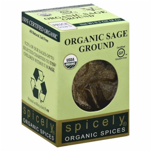 Spicely Organics Ground Sage Perspective: front