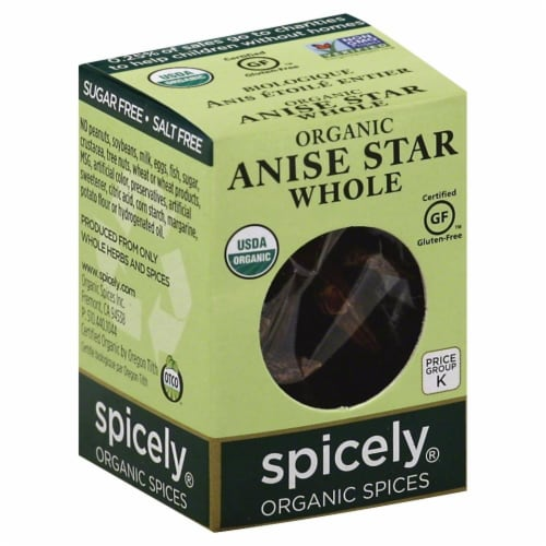 Spicely Organic Whole Anise Star Perspective: front