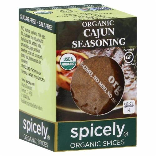 Spicely Organic Cajun Seasoning Perspective: front